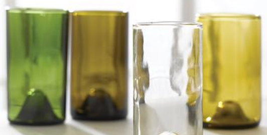 50 + 15 ECO WINE BOTTLE GLASSES FOR CANDLES