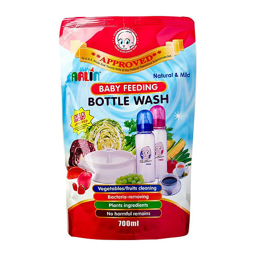 farlin bottle wash refill pack (700ml)