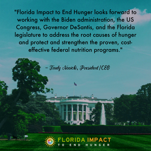 FIGHTING HUNGER WITH OUR NEW INCOMING ADMINISTRATION