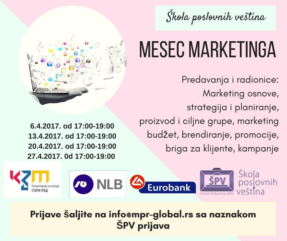 marketing, škola poslovnih veština, kancelarija za mlade, mesec marketinga, brendiranje, proizvod i ciljne grupe