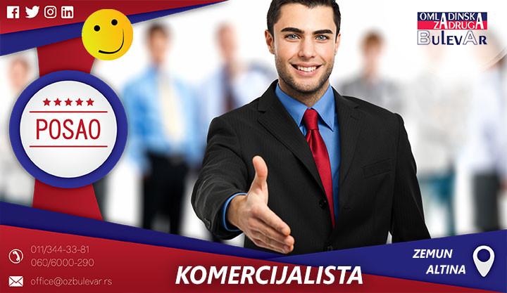 komercijalista, beograd poslovi, studentski poslovi