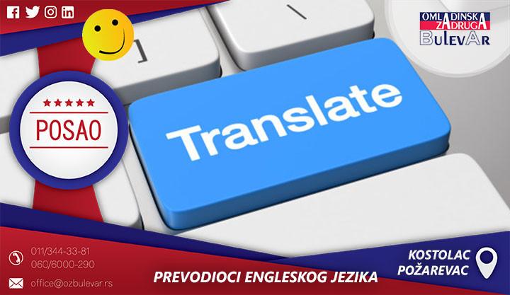 Beograd, Poslovi preko omladinske zadruge, Omladinska Zadruga, Omladinske zadruge, PREVODIOCI ENGLESKOG JEZIKA