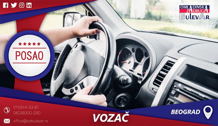 Beograd, Poslovi, Poslovi preko omladinske zadruge, Omladinska zadruga, Vozač, B kategorija, automobil, putničko vozilo