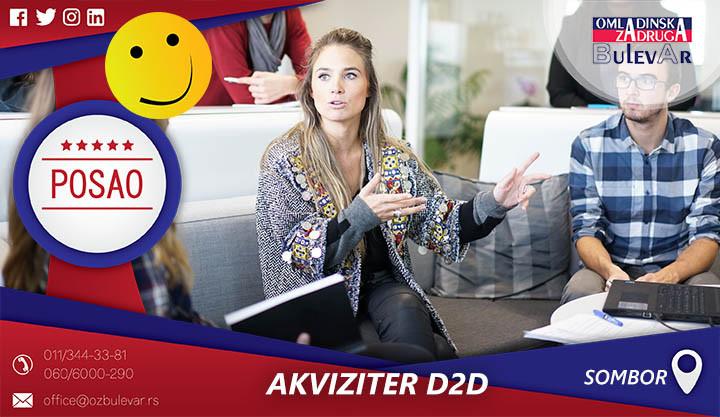 Beograd, Poslovi preko omladinske zadruge, Omladinska zadruga, akviziter, d2d prodavac, akviziter d2d, Sombor