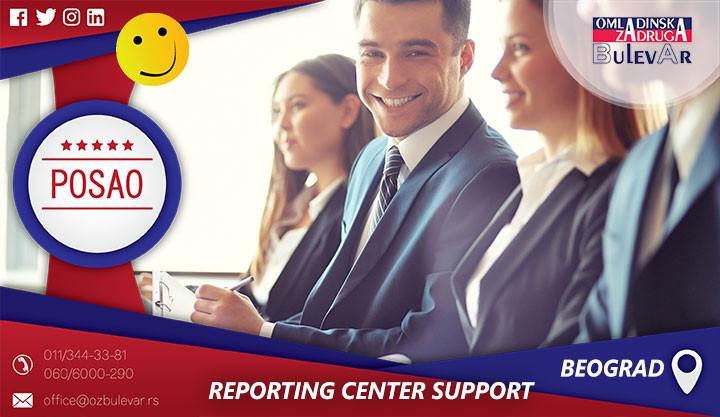 reporting center support, nielsen, omladinska zadruga, omladinska bulevar, beograd posao