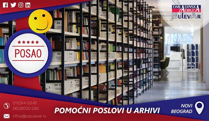 Beograd, Poslovi preko omladinske zadruge, Omladinska Zadruga, Omladinske zadruge, Arhiv, pomocni poslovi