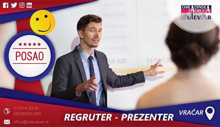 Poslovi preko omladinske zadruge, Omladinska zadruga, Studentska, zadruga Beograd, REGRUTER, prezenter