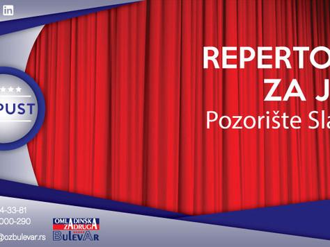 Pozorište Slavija - repertoar za jun 2017.godine