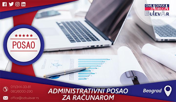 Poslovi preko omladinske zadruge, Omladinska zadruga, poslovi,administracije, administrativni posao, računar