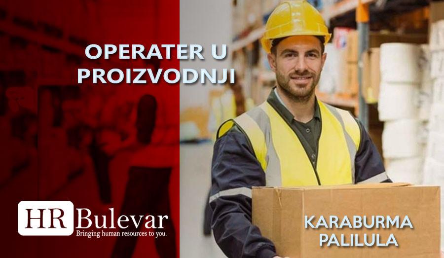HR Bulevar, Poslovi Bulevar, Beograd, operater u proizvodnji kartona