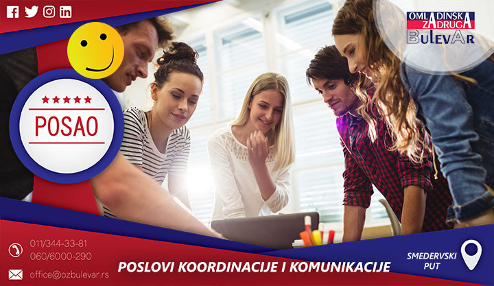 Beograd, Poslovi preko omladinske zadruge, Omladinska Zadruga, Omladinske zadruge, komunikacija, koordinacija