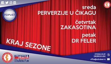 Kraj pozorišne sezone 2016/2017. u pozorištu Slavija