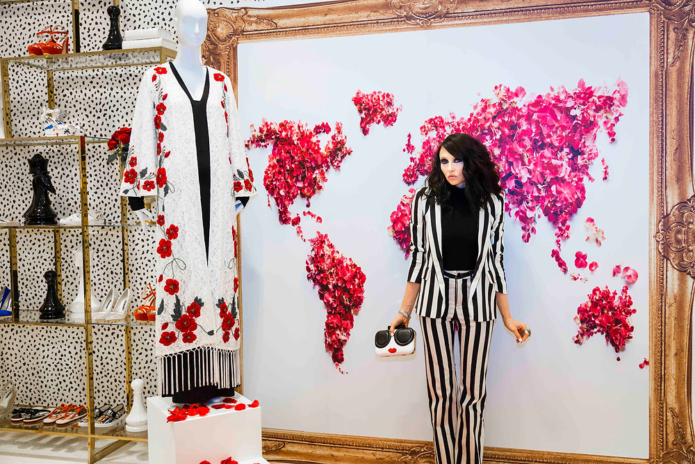 Stacey Bendet at her Dubai Mall Boutique