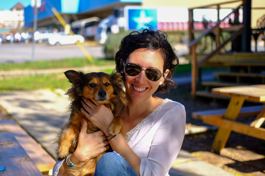 A dog friendly space in downtown San Marcos