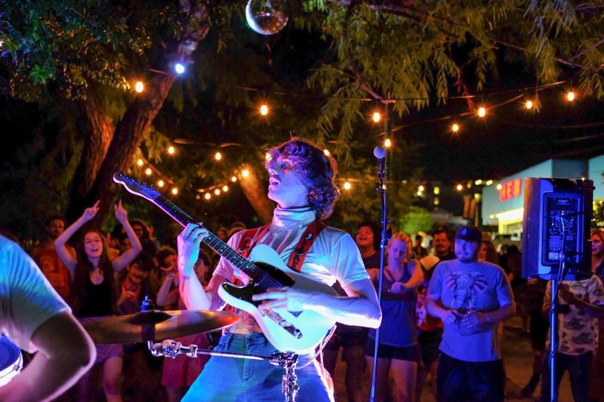 Jake Garrigus (Kairos) shreds a guitar solo