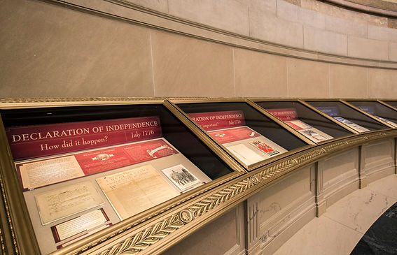 National Archives display of Declaration of Independence