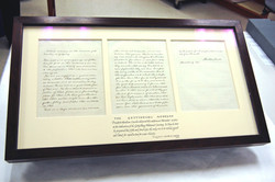 Display for The Gettysburg Address