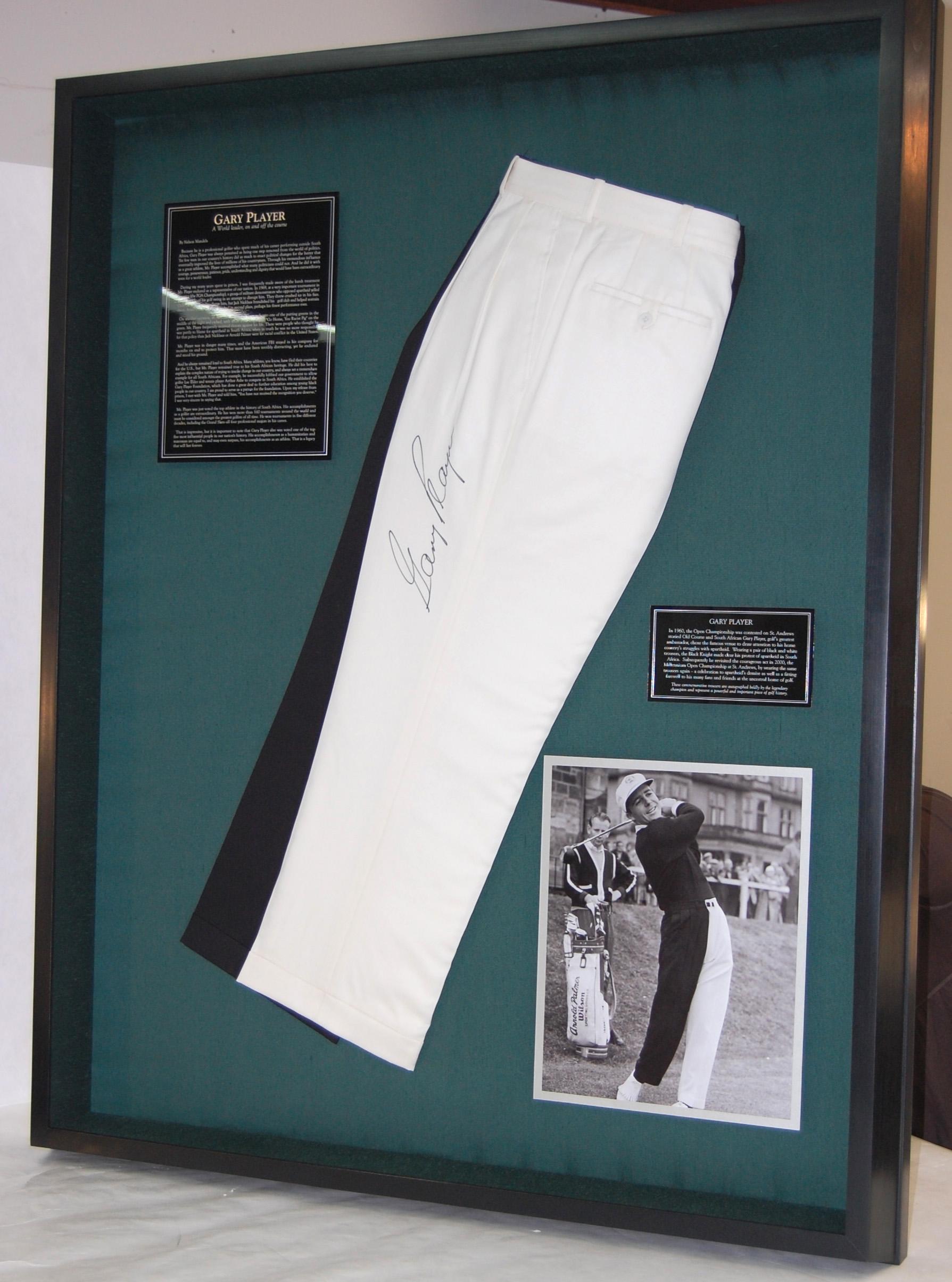 Display for Gary Player pants