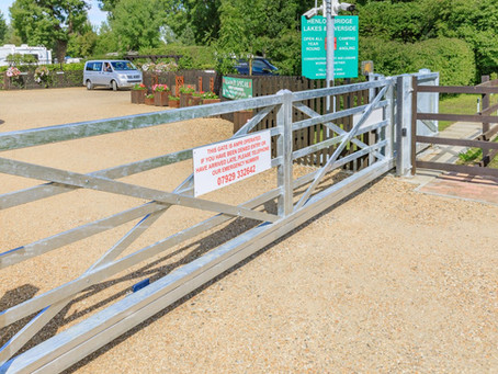 Our new ANPR gate access system.