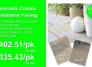 Marshalls Classic Sandstone paving offer