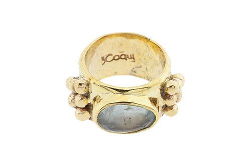 Boblble Ring Aqumarine