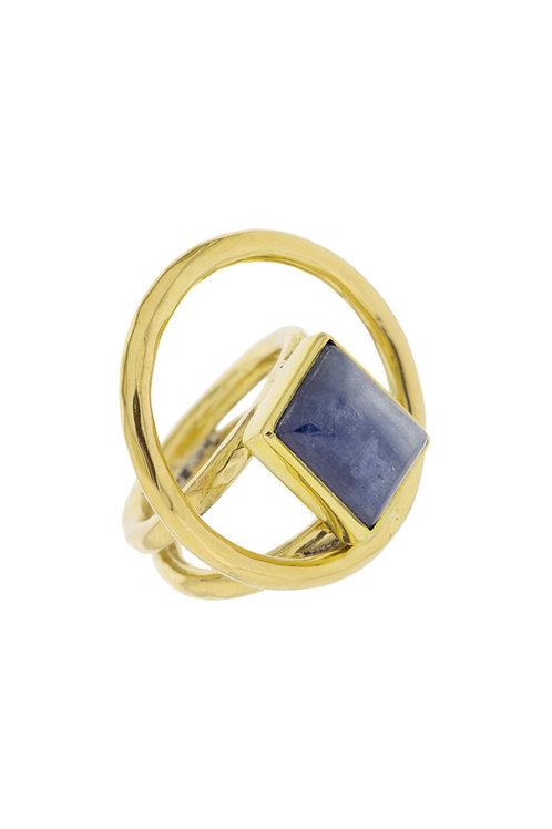 Square tazanita Ring