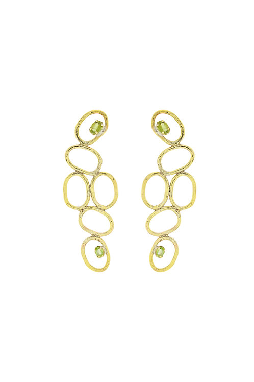 Multiple Oval  Periodot Earring