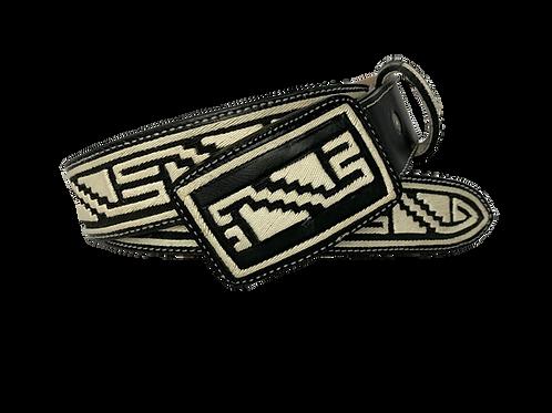 Cinto Piteado tipo Cordón y Escalera Azteca