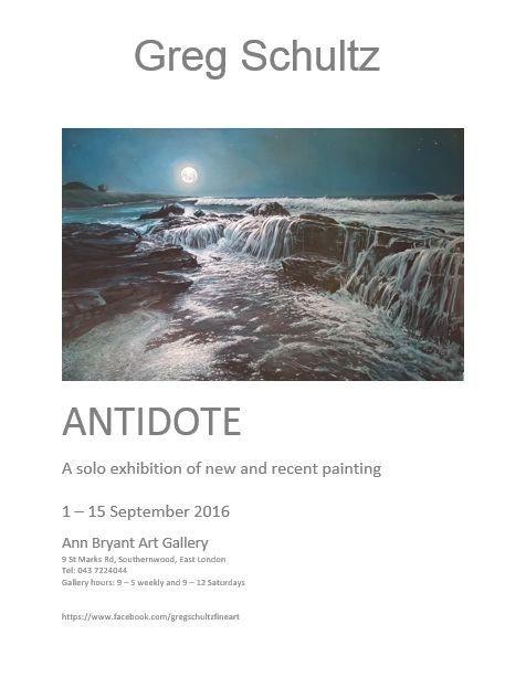 Greg Schultz Antidote Exhibition