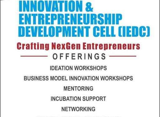 IEDC Crafting NextGen Entrepreneurs
