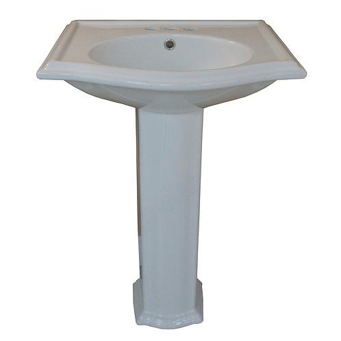 White Pedestal Sink - BMR-502