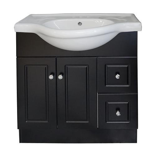 Two Door, Two Drawer Vanity - Black - VDC003-800