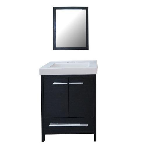 Two Door Contemporary Vanity with Mirror - VMB001-600