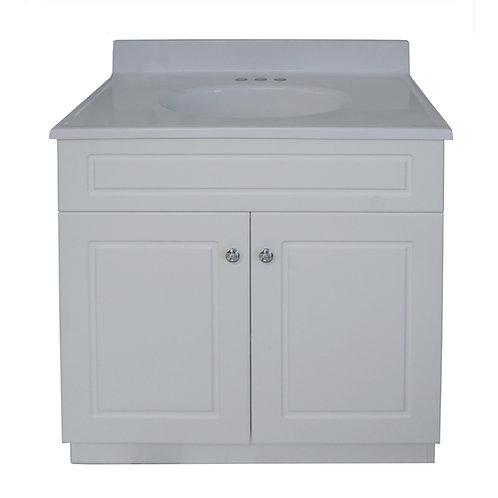 """Two Door Square Vanity - White - 25"""" - VW004-635"""