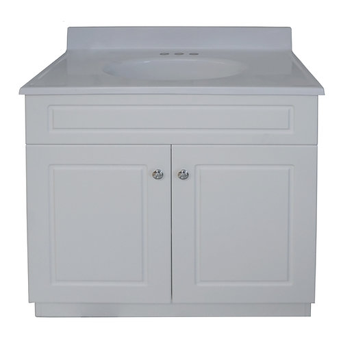 "Two Door Square Vanity - White - 31"" - VW005-780"