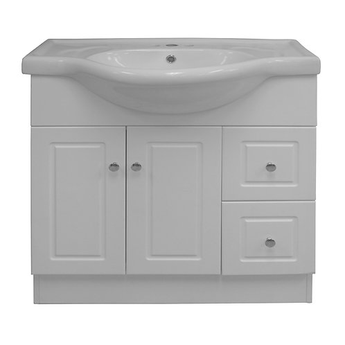 Two Door, Two Drawer Vanity - White - VW003-800