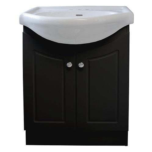 Two Door Vanity - Black - VDC002-600