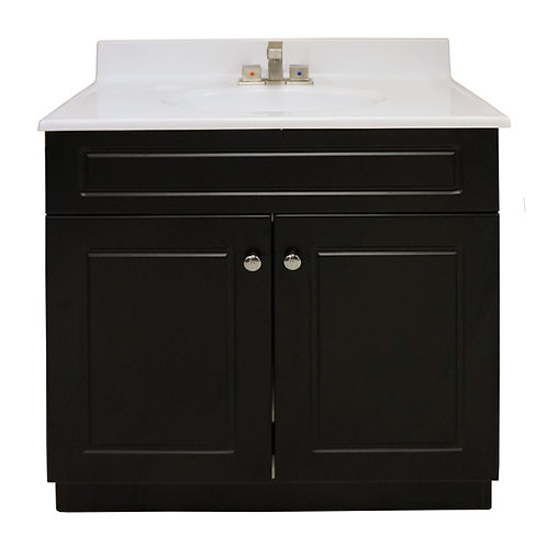 "Two Door Square Vanity - Black - 31"" - VDC005-780"
