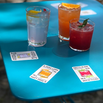 Mirrored Drinks Menu Stickers