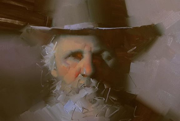 old man with hat