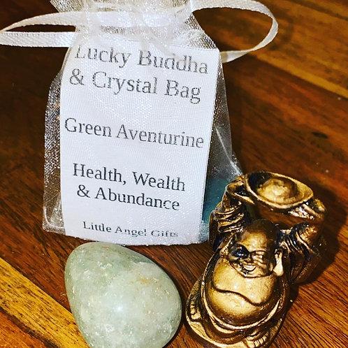 Lucky Buddha & Crystal Bag