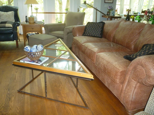 Triangle Window Rebar Coffee Table
