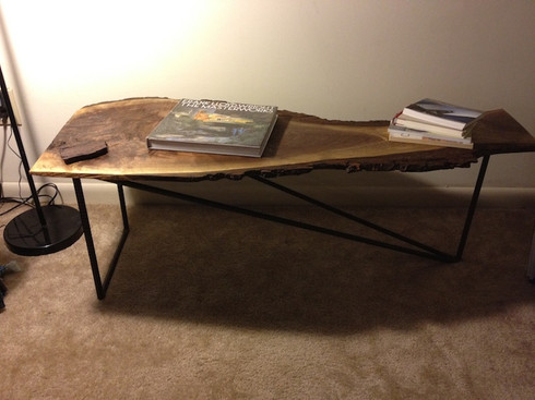 Black Walnut Rebar Table