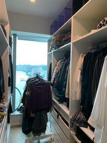 Full rack of clothes for donation
