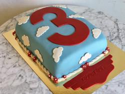 Blå tårta moln & 3a