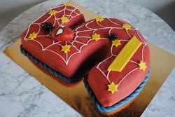 5-års tårta - Spiderman ansikte