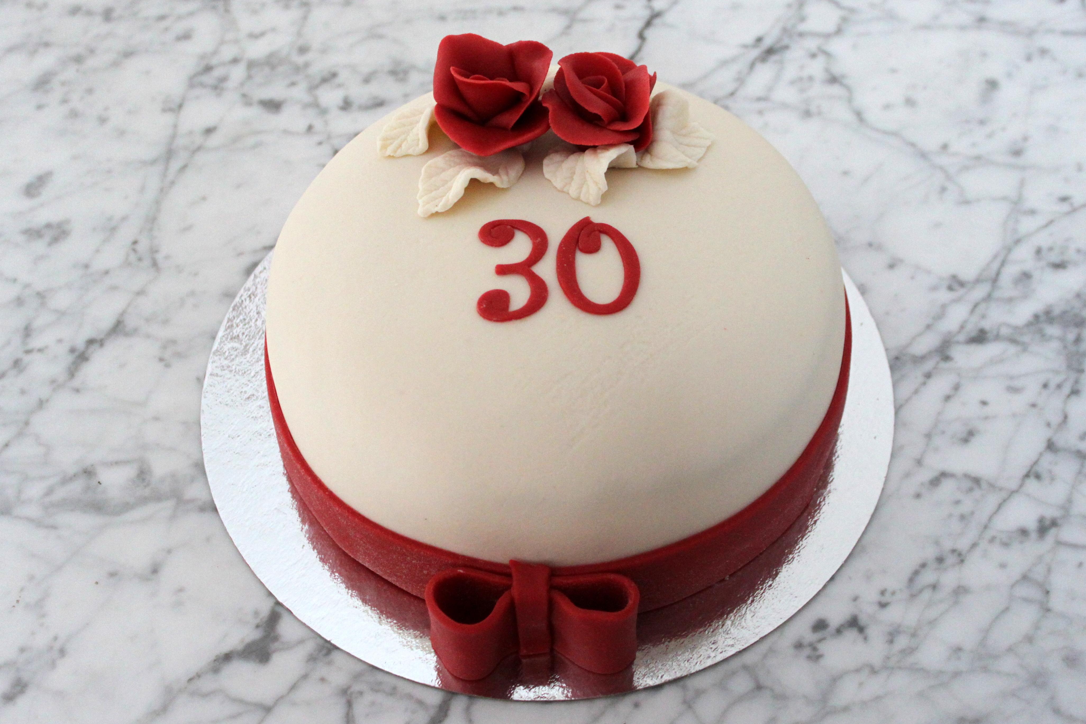 30-års tårta