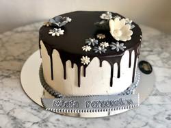 Naked Cake Silverdekor