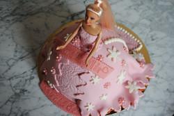 Barbies klänning rosa