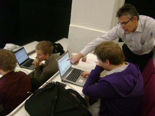 Hands-on instruction at CBS with Ole